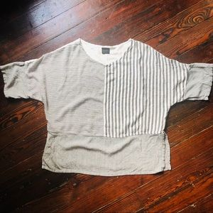 Striped Dolman Blouse